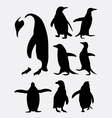Penguin bird animal silhouettes vector