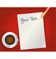 blank note paper vector image vector image