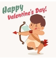Valentine Day cupid angel cartoon style vector image
