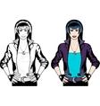 Caucasian Vampire Punk Rock girl vector image vector image
