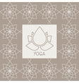 Abstract Lotus Flower Yoga Studio Design Card vector image