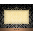 floral frame with damask background vector image