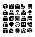 Logistics delivery Icons 5 vector image