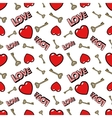 Love Hearts and Golden Keys Seamless Pattern vector image