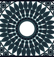 mandala round ornament pattern vintage decorative vector image