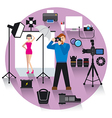 photo studio concept icon vector image