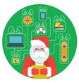 Santa Claus with Wishlist vector image