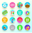 set of summer vacation and travel labels and tags vector image