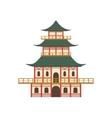Pagoda Japanese Culture Symbol vector image vector image