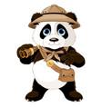 panda safari explorer vector image vector image