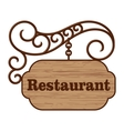Old wooden signboard vector image vector image