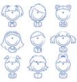 Girls Avatar vector image vector image