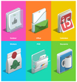 Printing icons vector image vector image