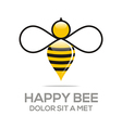 Logo Beehive Sweet Natural And Honeycomb Design vector image