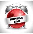 Bowling time vector image vector image