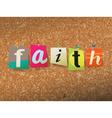 Faith Concept vector image