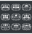 Collection of vintage retro bakery logo labels vector image