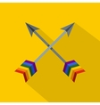 Arrows LGBT icon flat style vector image