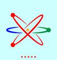atom set it is color icon vector image
