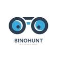 Binocular logo or symbol icon vector image