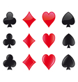 Cards suits icons beta version vector image