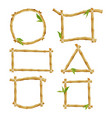 different decorative frames from bamboo vector image