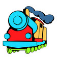 locomotive icon icon cartoon vector image