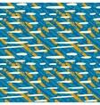 Pattern with random crossing brushstrokes vector image