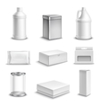 Product Package Realistic Icons Set vector image