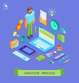 Set of 3d isometric design vector image