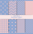 set of 8 seamless geometric patterns vector image