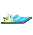 Tsunami water Wave vector image