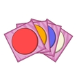 CD icon cartoon style vector image vector image
