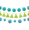 colorful vibrant birthday party pom poms vector image