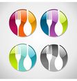 Gourmet glossy web button icons set vector image