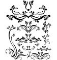 floral scroll set vector image vector image