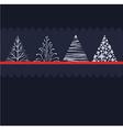 Stylised christmas trees vector image