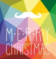 Christmas hipster card with mustache vector image vector image