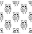 Vintage cute black owls seamless pattern vector image vector image