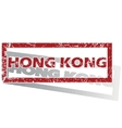 Hong Kong outlined stamp vector image