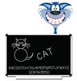 cat blackboard vector image