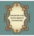 Floral vintage frame in beige and brown colors vector image