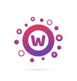 letter w with group of circles abstract logo icon vector image