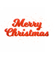 Merry Christmas Poster Template Isolated vector image