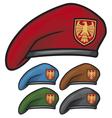 military beret vector image