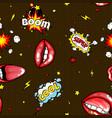 seamless pattern cartoon comic super speech bubble vector image