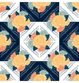 seamless retro flowers pattern vector image