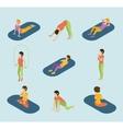 Sports Women Yoga Gym Gymnastics Workout Exercise vector image