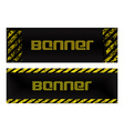 two banner with vertical and horizontal scratched vector image