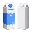two milk carton with screw cap vector image
